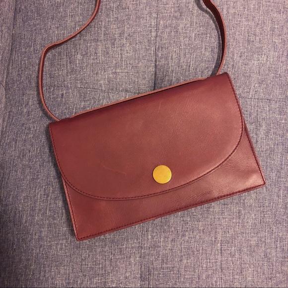 244e013a0b25 Madewell Handbags - Madewell Slim Convertible Bag - Dark Cabernet